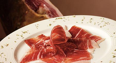 plato de jamón ibérico de bellota de Salamanca